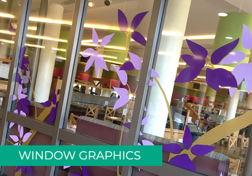 Example of Window Graphics for shop in Scotland